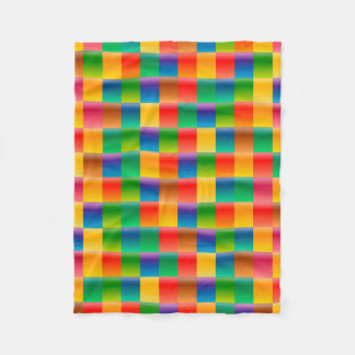 Abstract Pattern Colorful Square Background Fleece Blanket