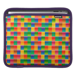 Abstract Pattern Colorful Square Background iPad Sleeve