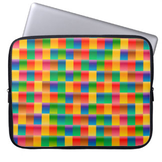 Abstract Pattern Colorful Square Background Laptop Sleeve