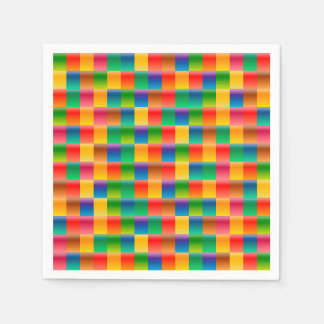 Abstract Pattern Colorful Square Background Paper Napkins
