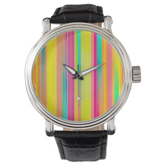 Abstract Pattern Colorful Square Background Wrist Watches