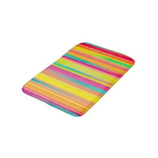 Abstract Pattern Colorful Stripes Background Bath Mat