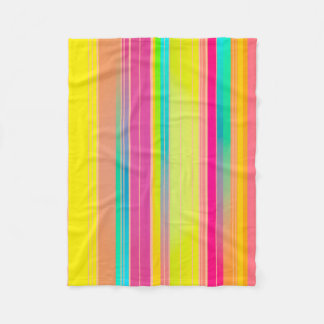 Abstract Pattern Colorful Stripes Background Fleece Blanket