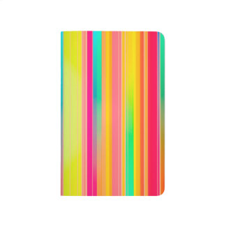 Abstract Pattern Colorful Stripes Background Journal
