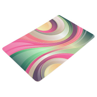 Abstract Pattern Colorful Waves Background Floor Mat
