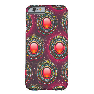 Abstract Pattern Concentric Circles Purple And Pin Barely There iPhone 6 Case