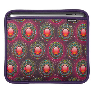 Abstract Pattern Concentric Circles Purple And Pin iPad Sleeve