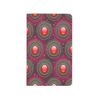 Abstract Pattern Concentric Circles Purple And Pin Journals