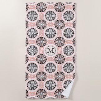Abstract Pattern custom monogram beach towel