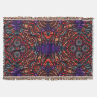 Abstract Pattern Custom Throw Blankets