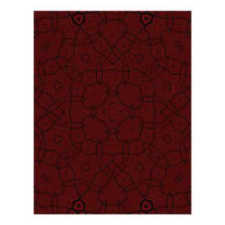 Abstract Pattern dark red Full Color Flyer
