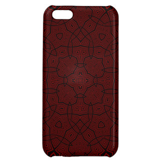 Abstract Pattern dark red iPhone 5C Case