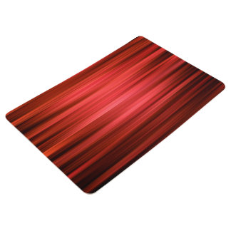 Abstract Pattern Dark Red Lines Floor Mat