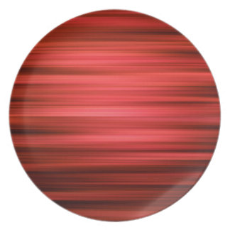 Abstract Pattern Dark Red Lines Party Plate