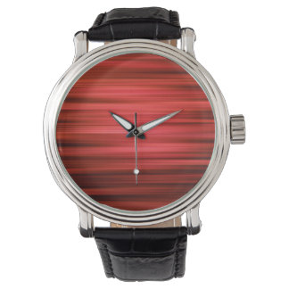 Abstract Pattern Dark Red Lines Watch