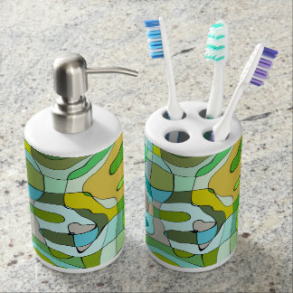Abstract pattern design bathroom set