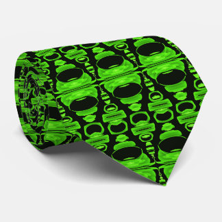Abstract Pattern Dividers 02 Green and Black Tie