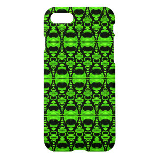 Abstract Pattern Dividers 02 Green Black iPhone 7 Case