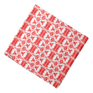 Abstract Pattern Dividers 02 Red over White Bandana