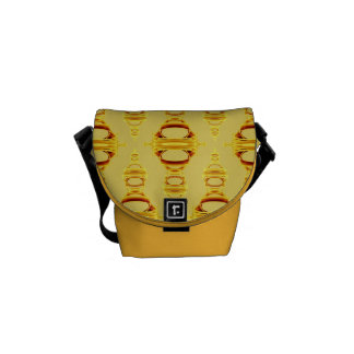 Abstract Pattern Dividers 03 Golden Yellow Commuter Bags