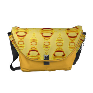 Abstract Pattern Dividers 03 Golden Yellow Messenger Bags