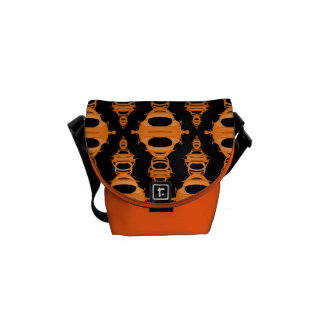 Abstract Pattern Dividers 03 Orange Black Commuter Bags