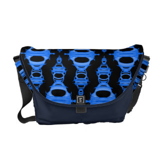 Abstract Pattern Dividers 03 Sky Blue Black Courier Bags