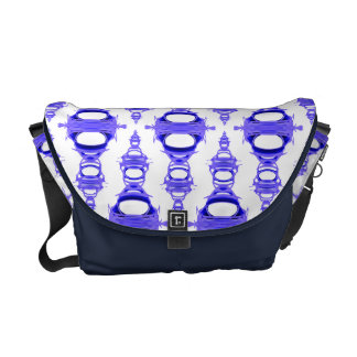 Abstract Pattern Dividers 03 Violet Custom White Commuter Bags