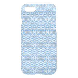 Abstract Pattern Dividers 07 Blue over White iPhone 7 Case
