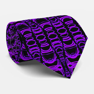 Abstract Pattern Dividers 07 in Purple and Black Tie