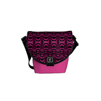 Abstract Pattern Dividers 07 Pink Black Commuter Bag