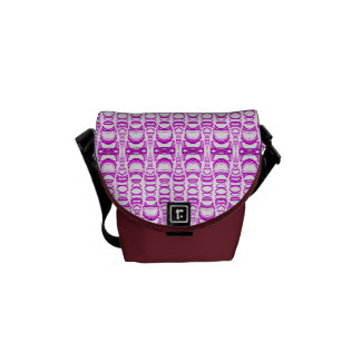 Abstract Pattern Dividers 07 Purple Pink and White Messenger Bag