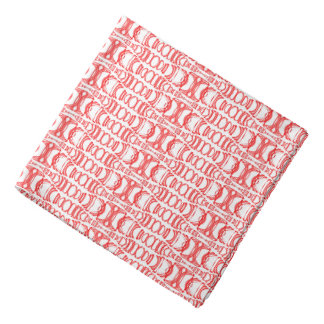 Abstract Pattern Dividers 07 Red over White Bandana