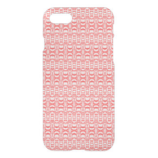 Abstract Pattern Dividers 07 Red over White iPhone 7 Case