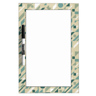 Abstract pattern dry erase board