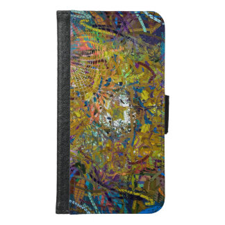 Abstract Pattern Glass Effect Samsung Galaxy S6 Wallet Case