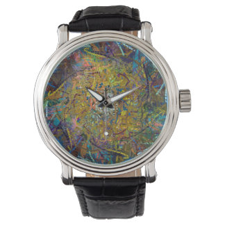 Abstract Pattern Glass Effect Watch