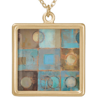 Abstract Pattern Gold Plated Necklace