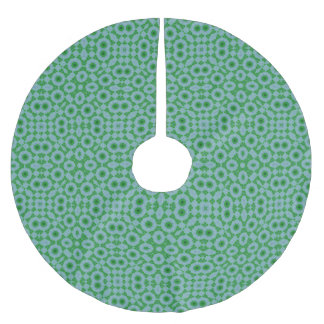Abstract Pattern green blue Brushed Polyester Tree Skirt