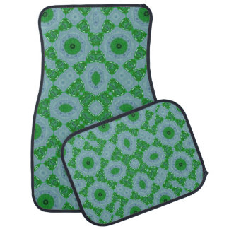 Abstract Pattern green blue Floor Mat