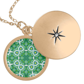 Abstract Pattern Green blue Pendant
