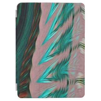 Abstract Pattern Green Brown And Grey iPad Air Cover