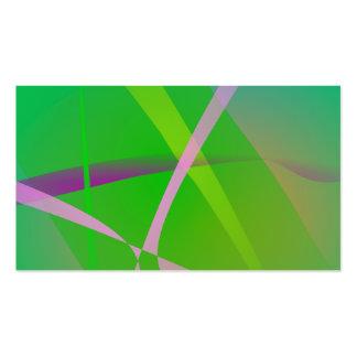 Abstract Pattern Green Grass Business Card Template