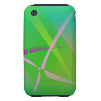 Abstract Pattern Green Grass iPhone 3 Tough Case