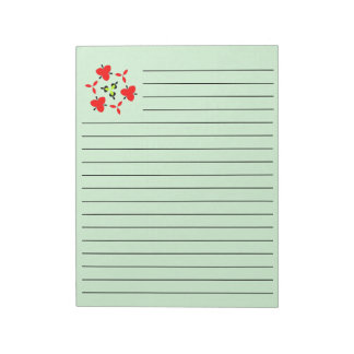 Abstract Pattern green Notepad