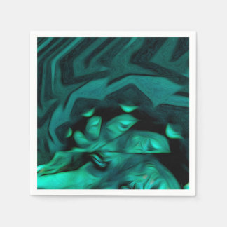 Abstract Pattern Green Paper Serviettes