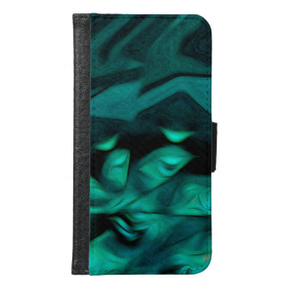 Abstract Pattern Green Samsung Galaxy S6 Wallet Case