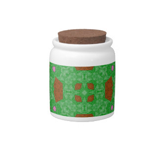 Abstract Pattern green Candy Jars