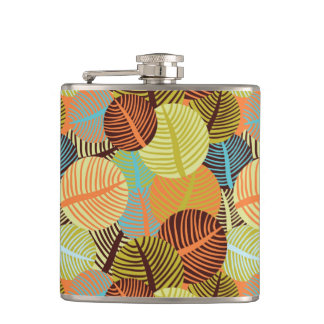 Abstract pattern hip flask