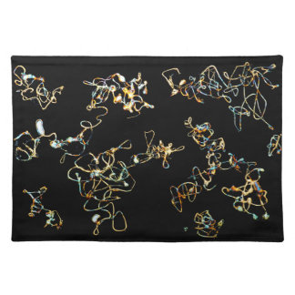 Abstract Pattern in Black and Gold Color. Placemat